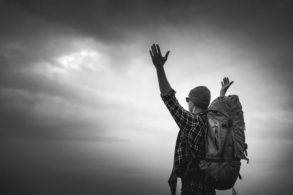 Man Traveling Backpack