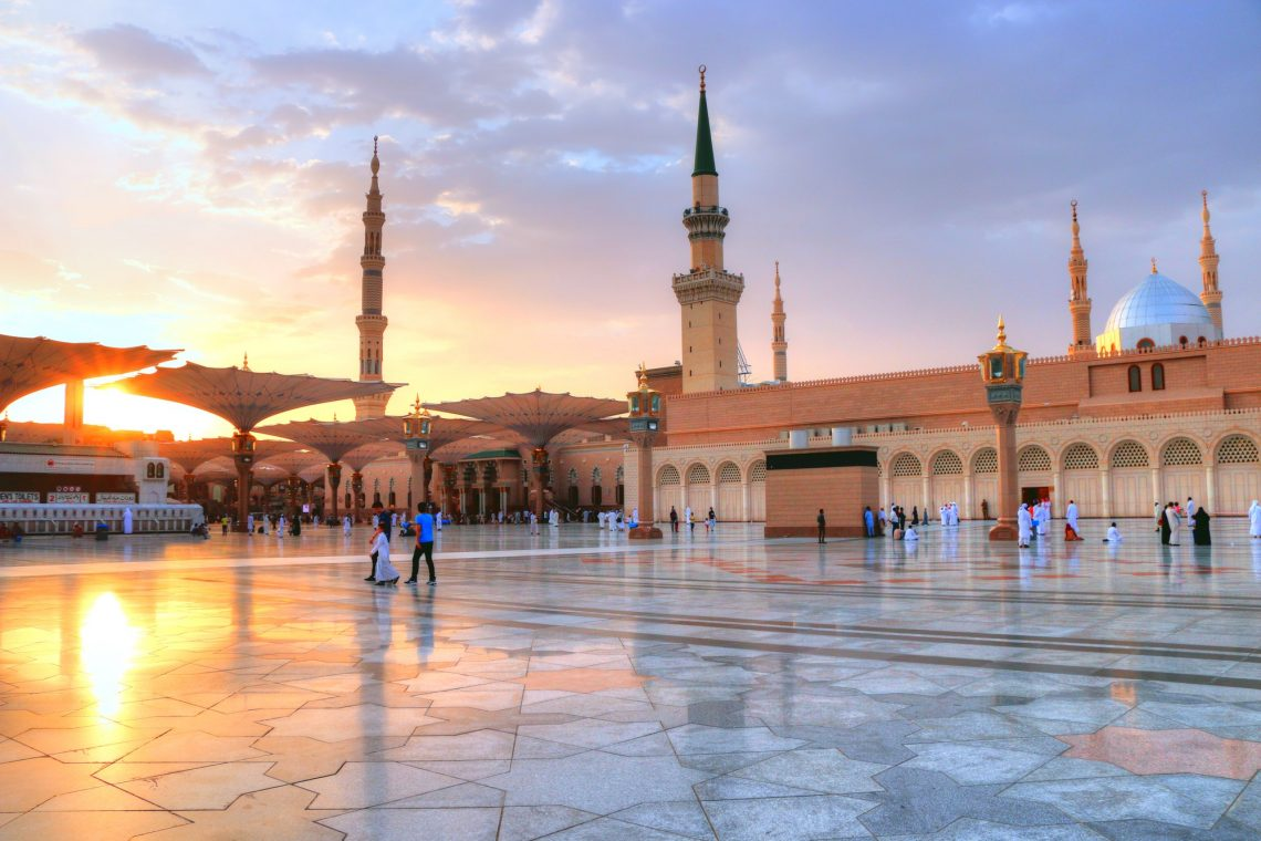 Prophet Mohammed Mosque , Al Masjid an Nabawi - Medina / Saudi Arabia