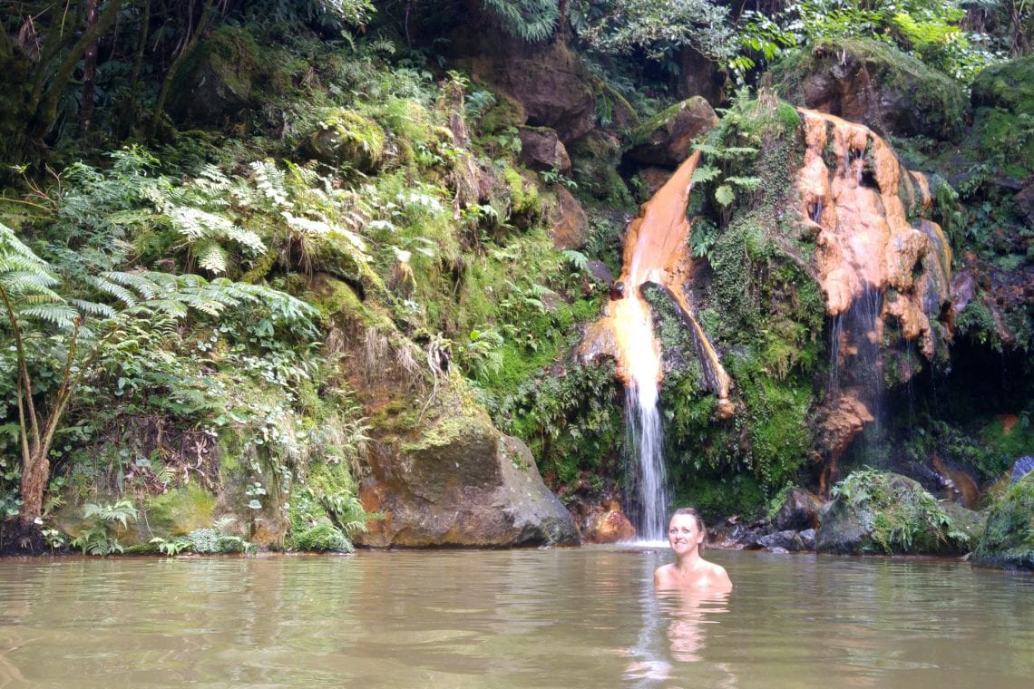 azores emma taking a dip