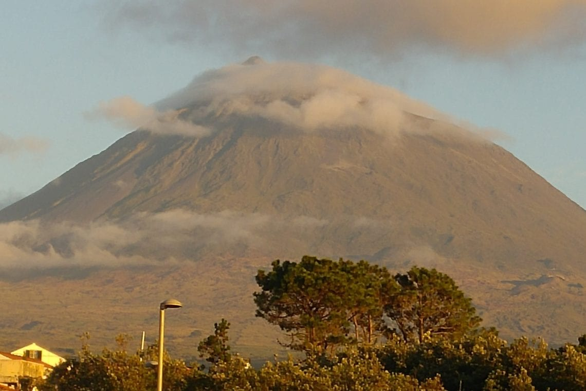 azores pico appears from the clouds