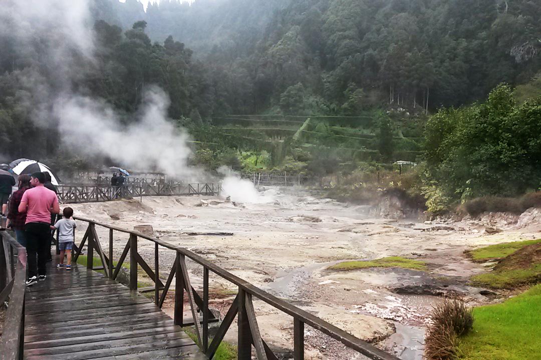 azores the caldeiras hot springs on a rainy day 2