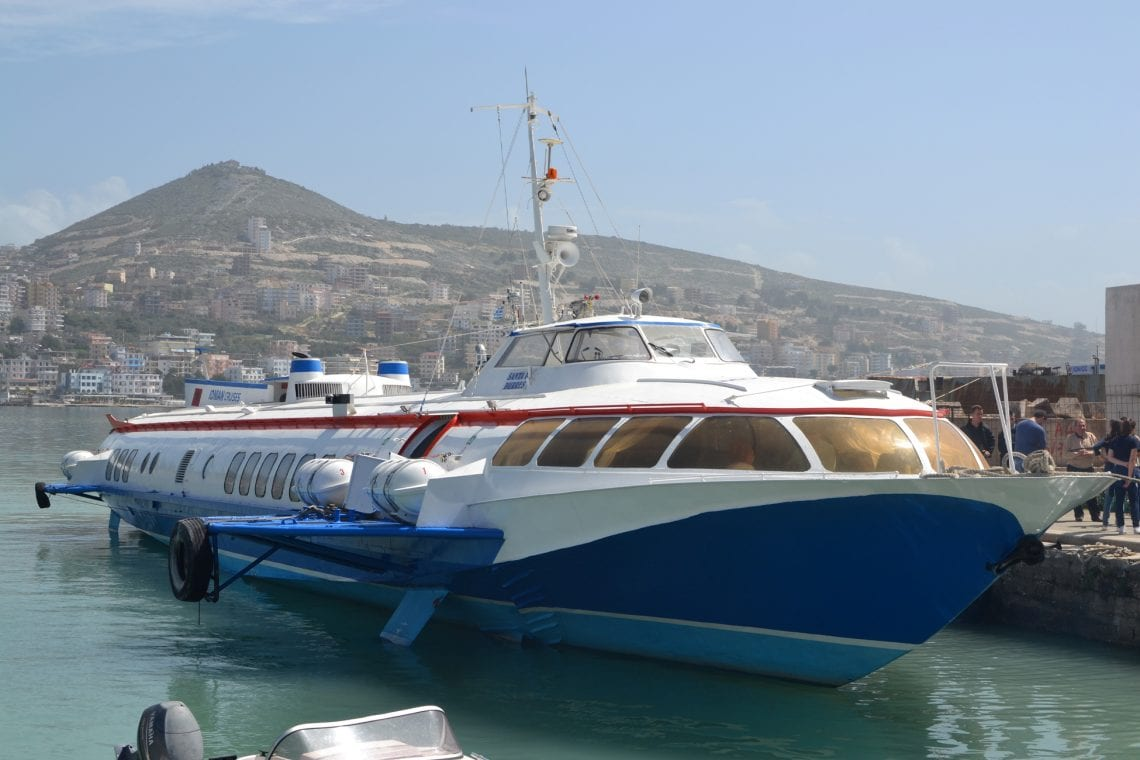 balkan backpack boat to corfu