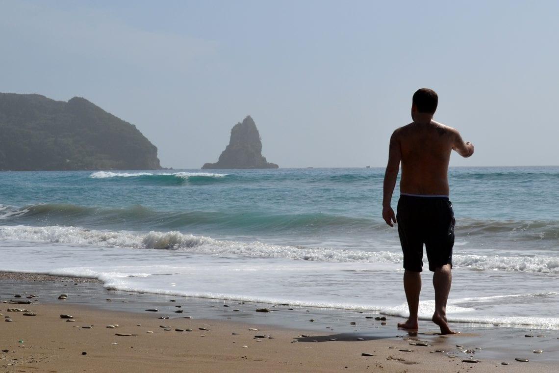 balkan backpack corfu beach