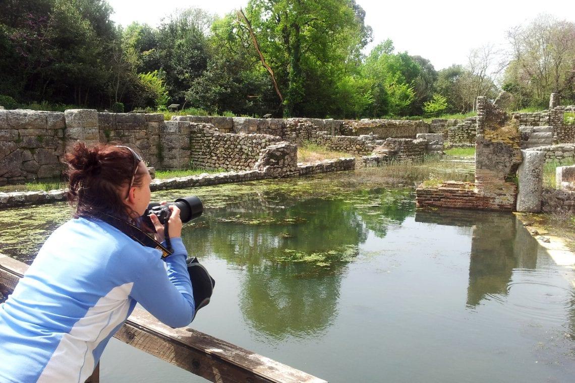 balkan backpack emma taking photos at batrint