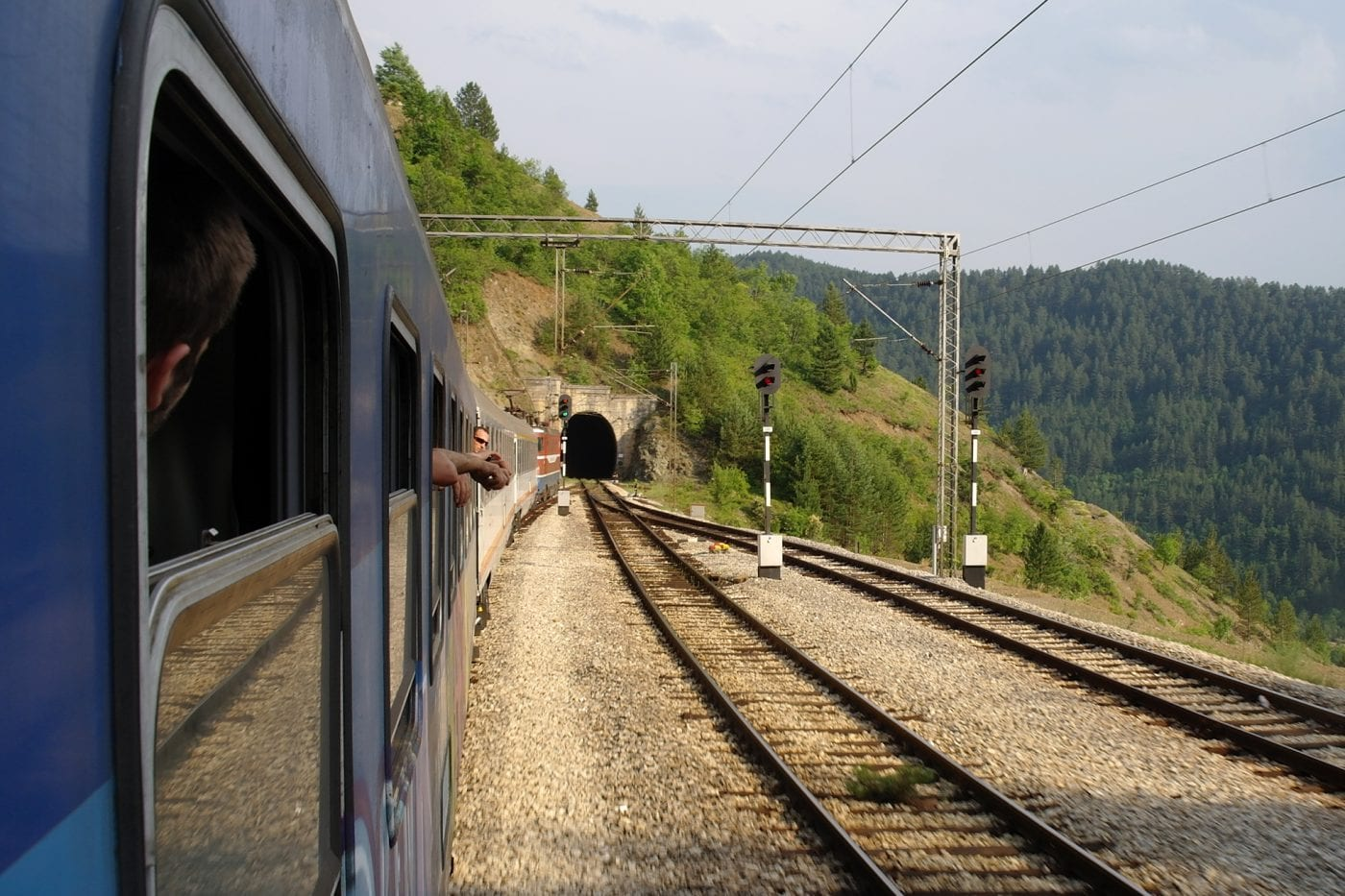 belgrade to budva heading into a tunnel