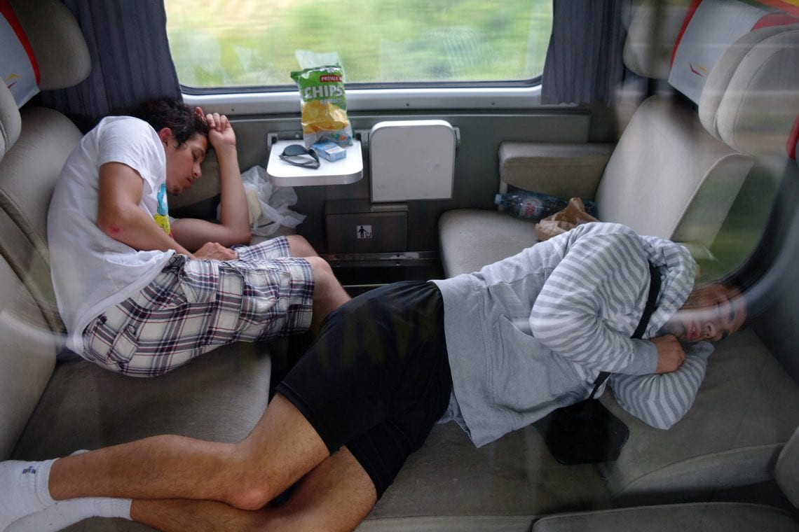 belgrade to budva the boys crashed out on the train