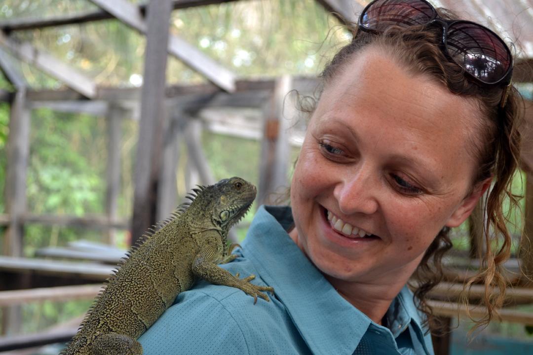 central america taster emma and iguana