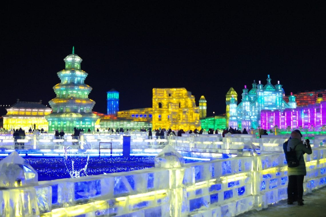 harbin ice festival so much ice and lights