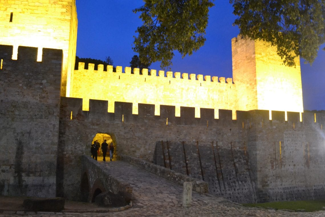 lisbon and porto evening walk along the castle grounds