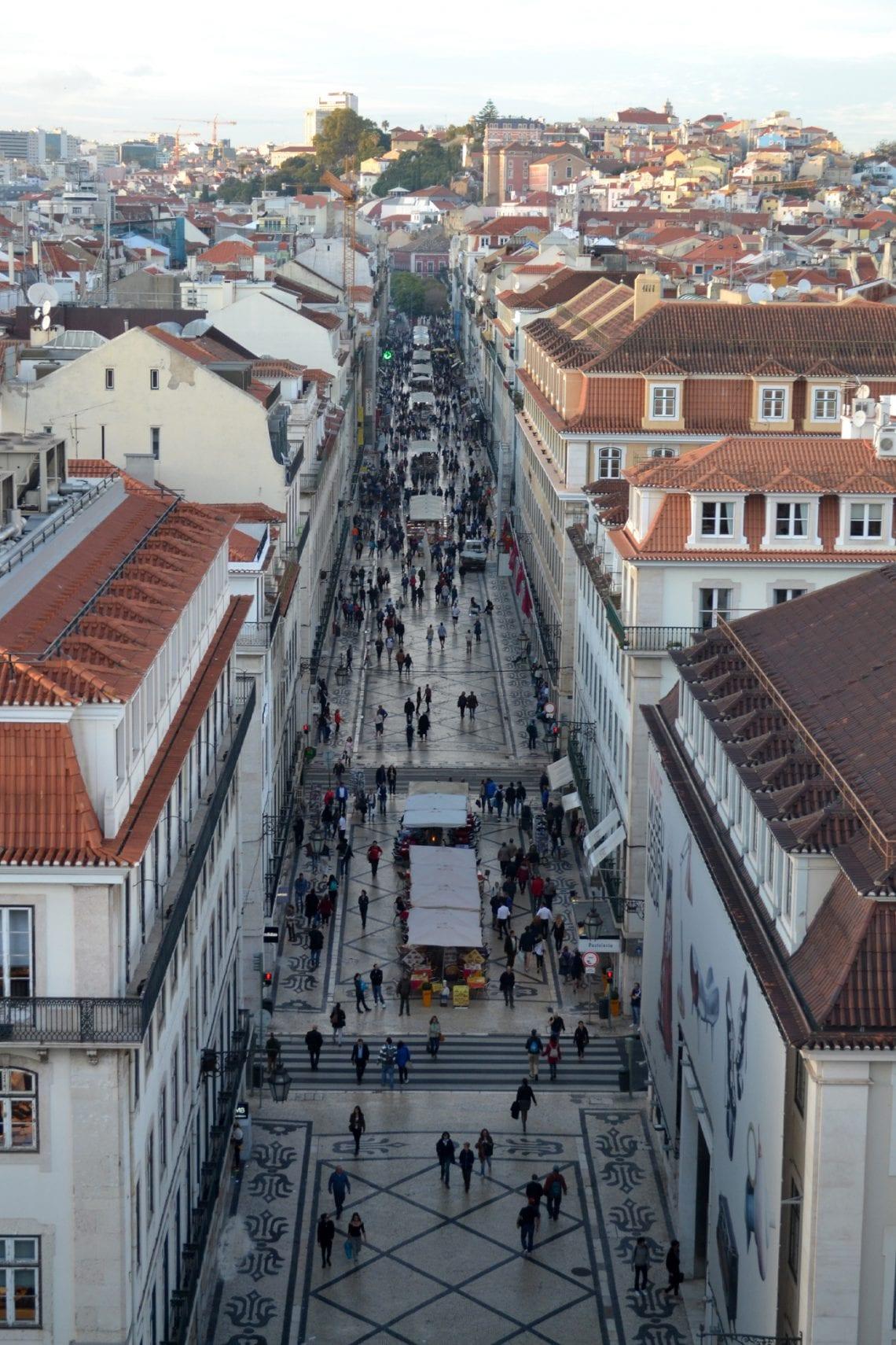 lisbon and porto main street in lisbon