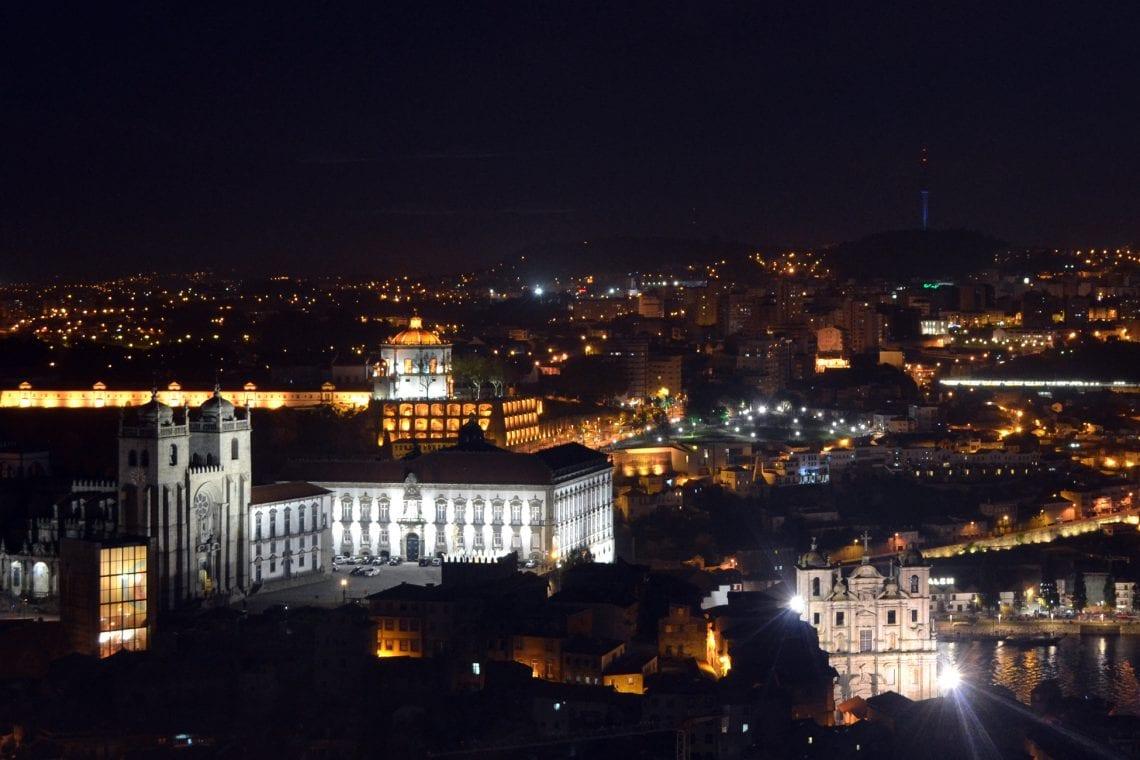 lisbon and porto night time walk in porto