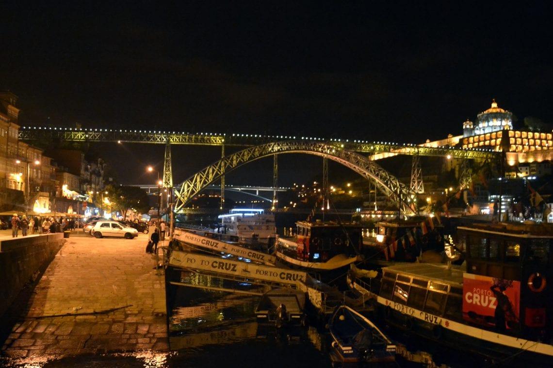 lisbon and porto riberia is a wonderful place to take a night time walk