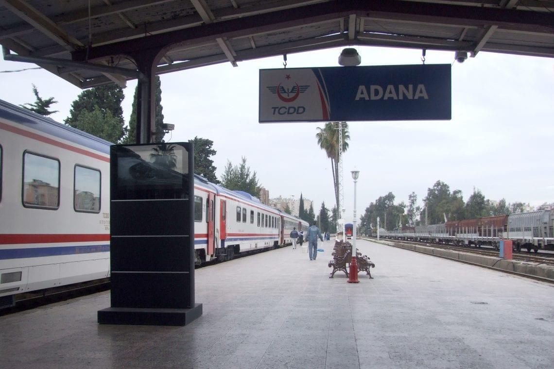 middle east backpack adana train station