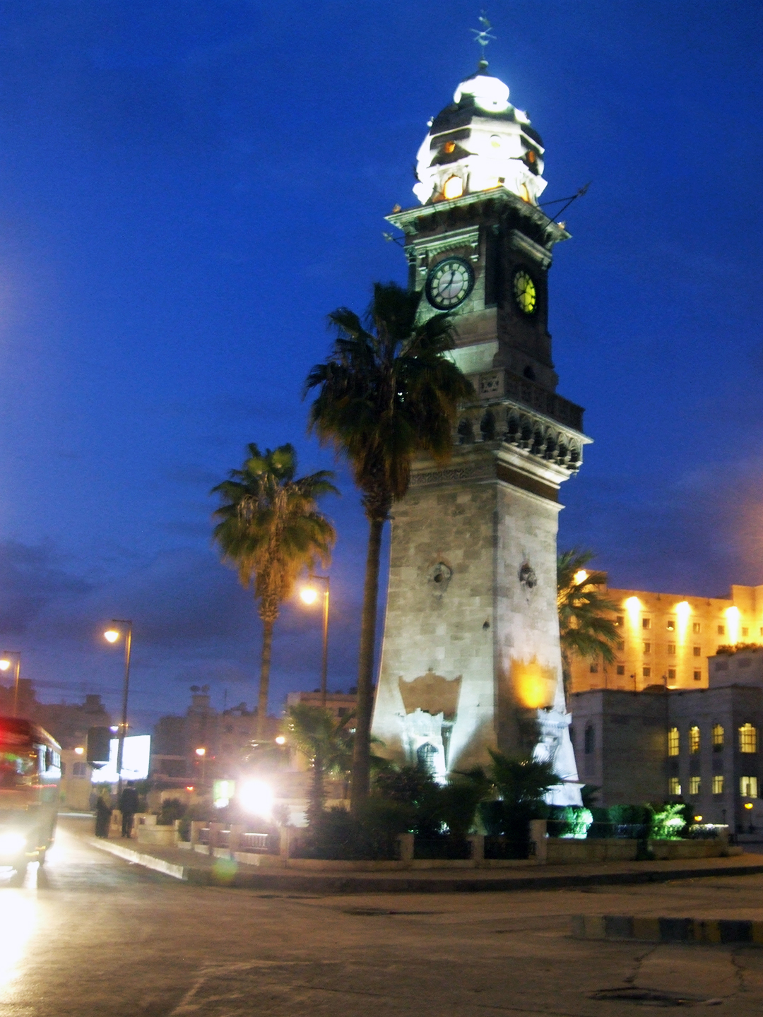 middle east backpack aleppo clock tower