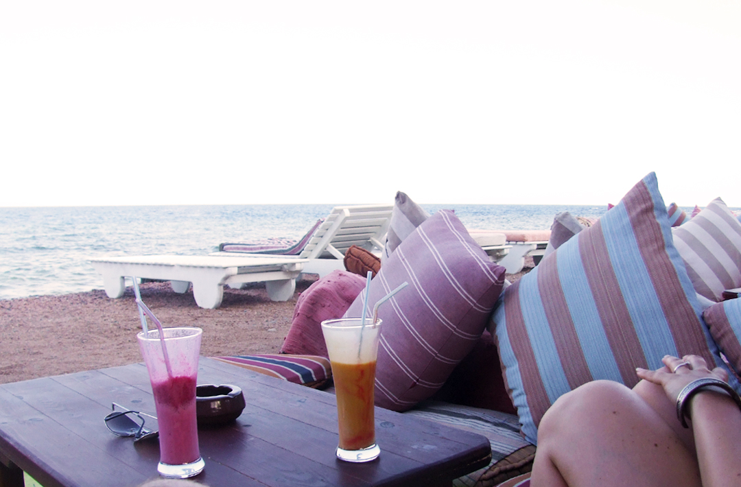 middle east backpack chilling out in dahab