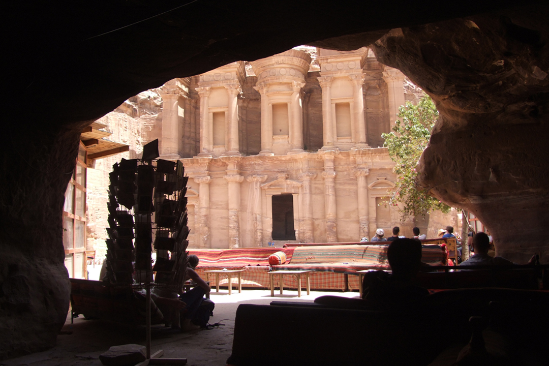 middle east backpack monestry in petra
