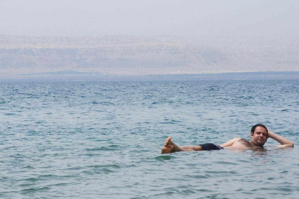 middle east backpack maz in dead sea