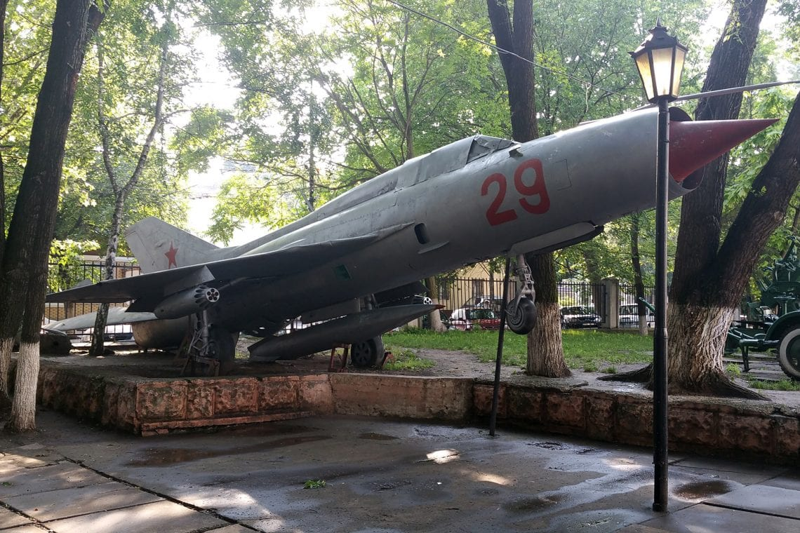 moldova mig at the outdoor military museum