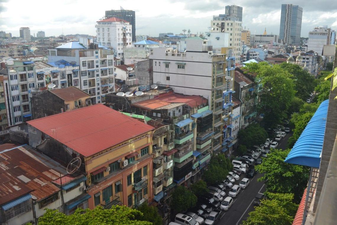 myanmar veiw from our hostel