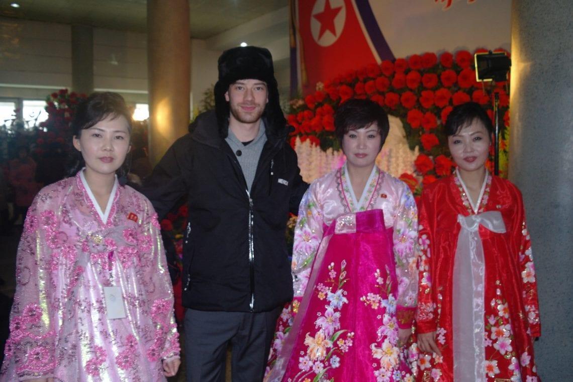 north korea dan with the north korean ladies