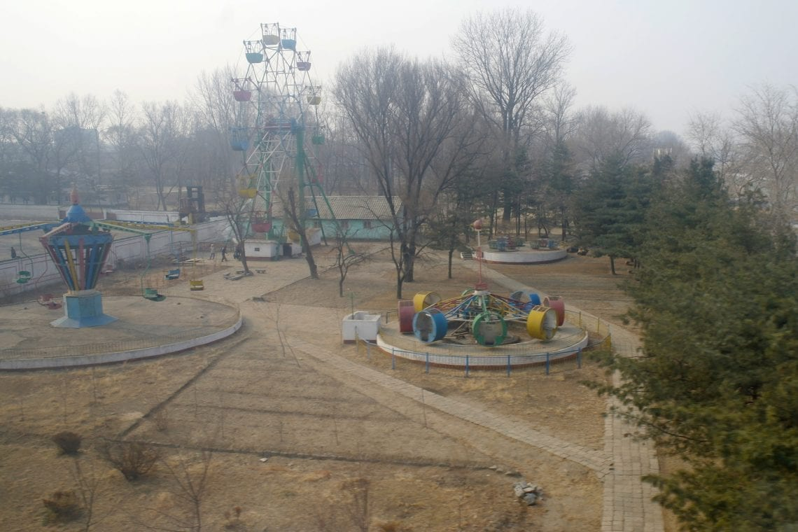north korea empty play ground