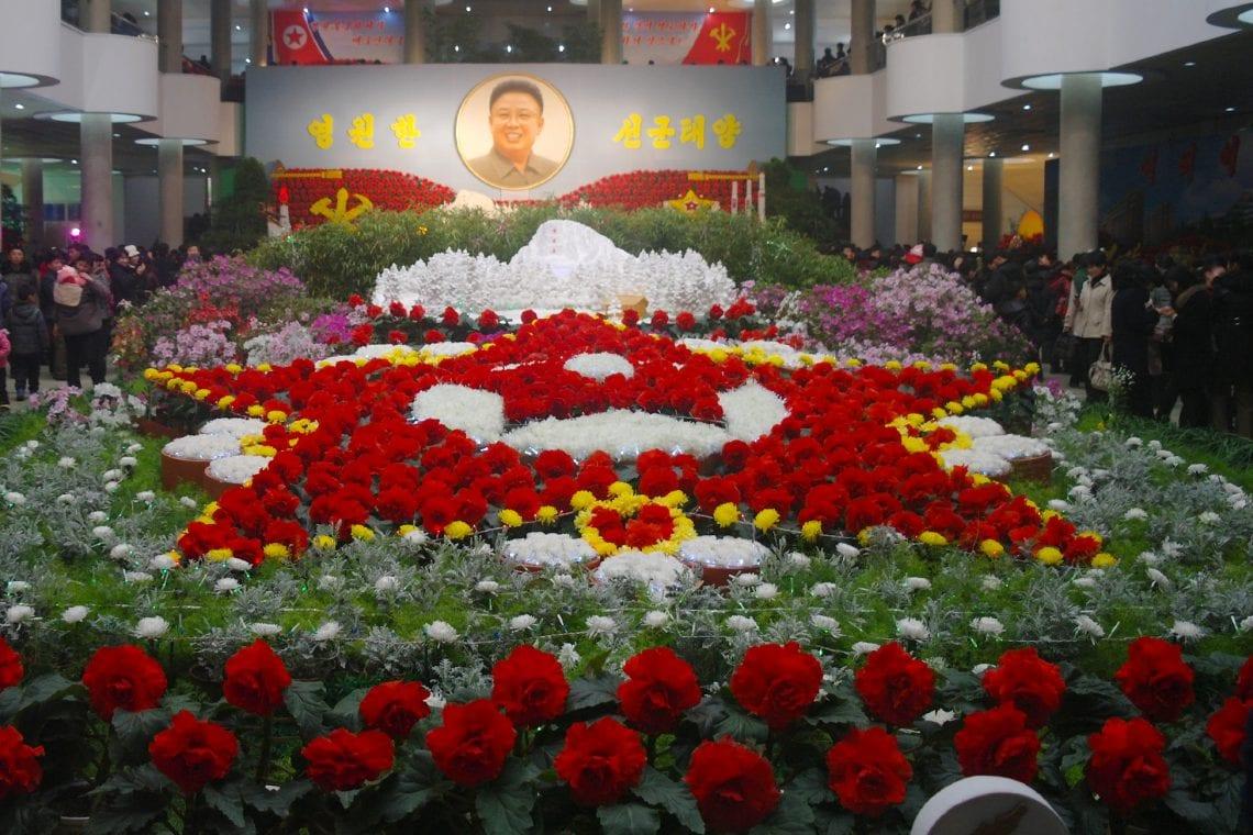 north korea flower fesival