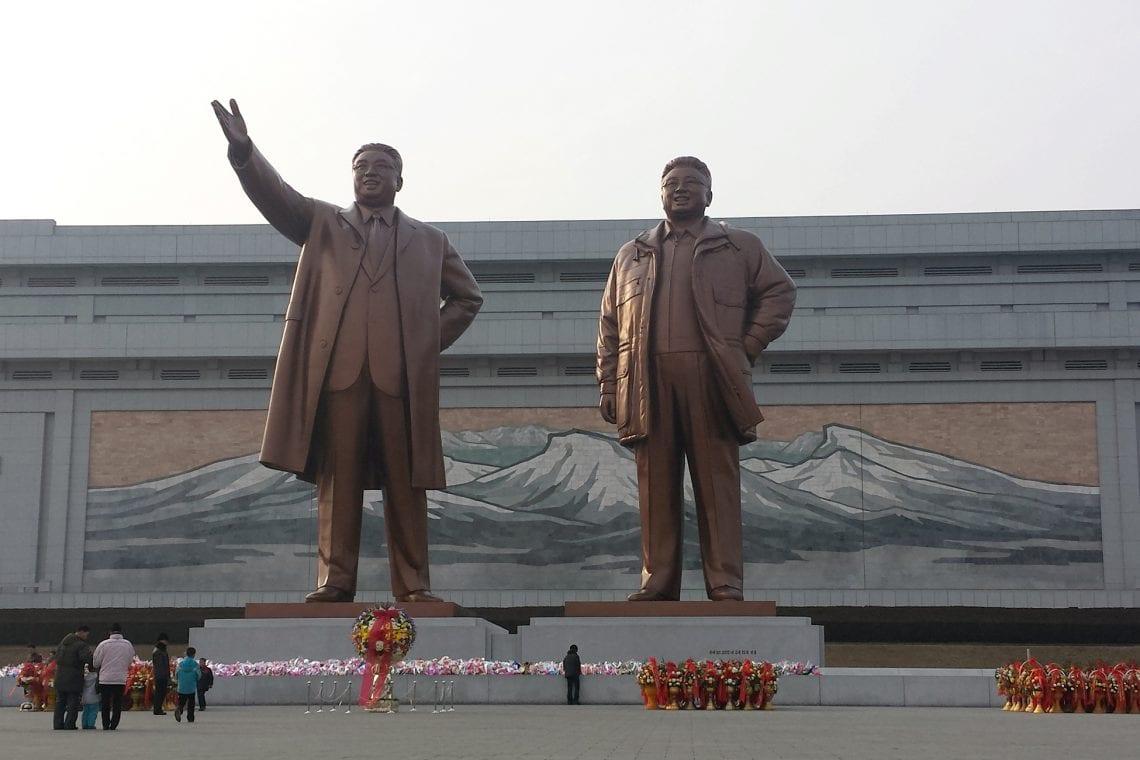 north korea massive statues of the kims 3