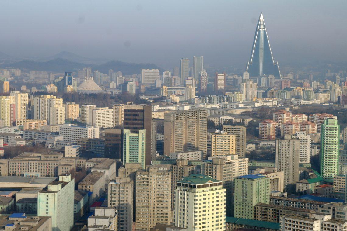 north korea pyongyang skyline