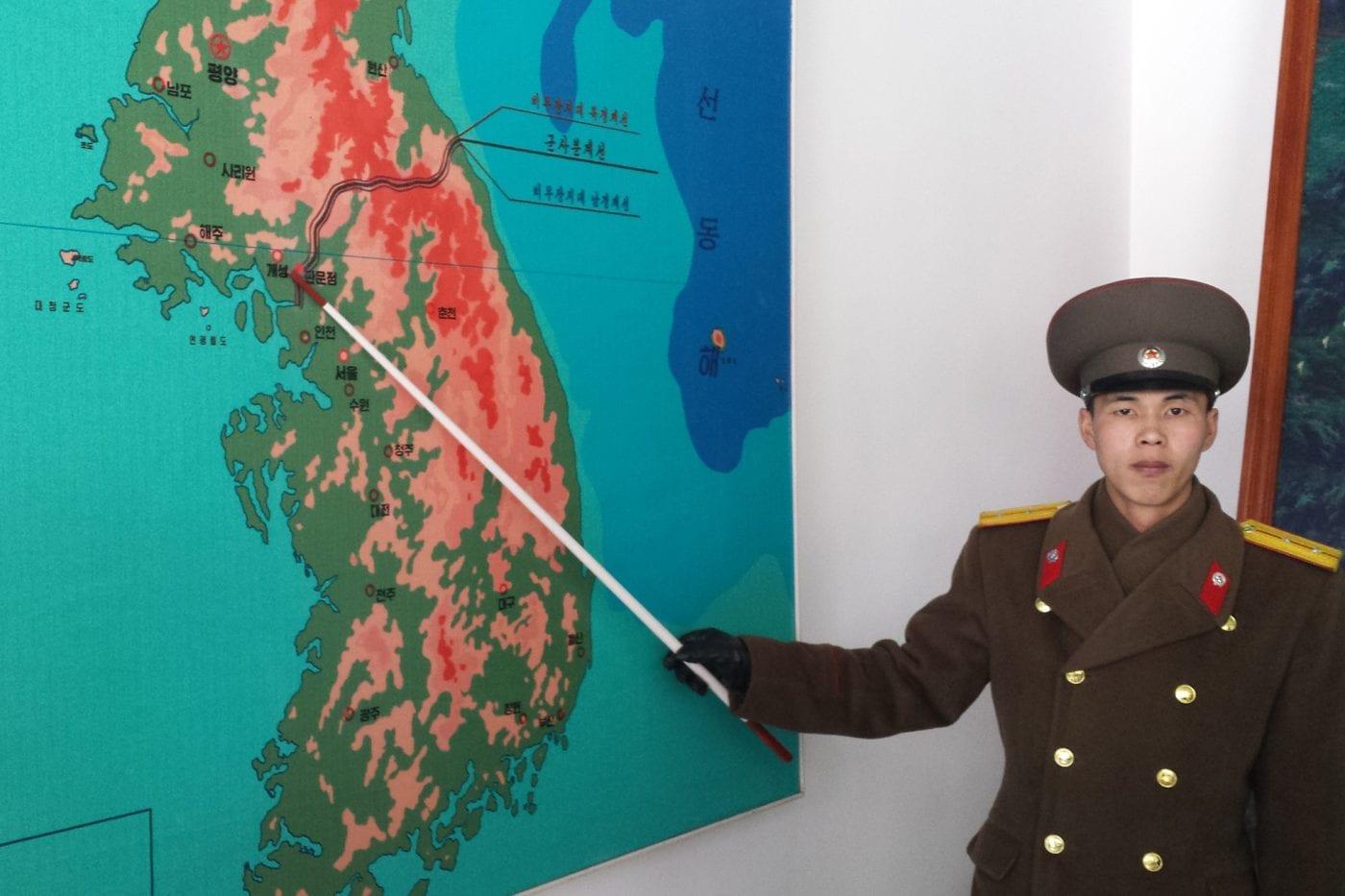 north korea soilder giving us a history lesson 2