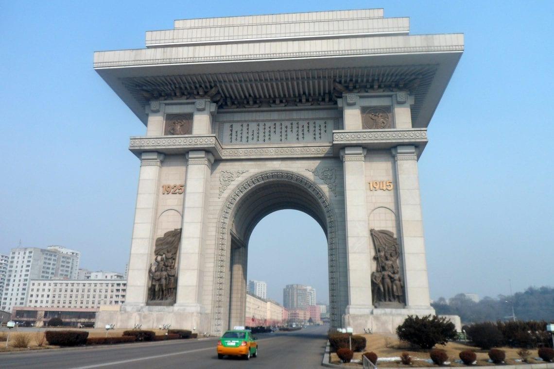 north korea the arch of triumph