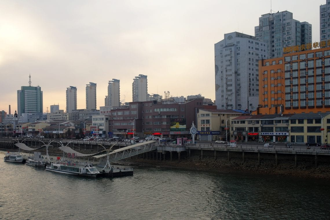 north korea the chinese side of the river