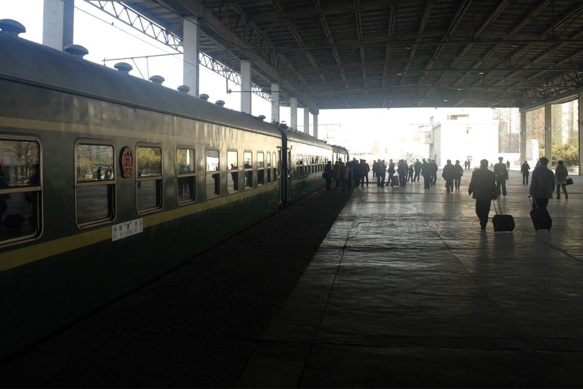 north korea train arrives in pyonyang