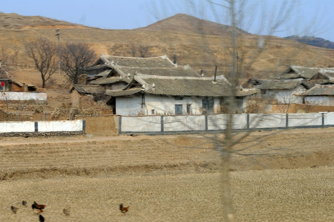north korea villages on the way into pyongyang