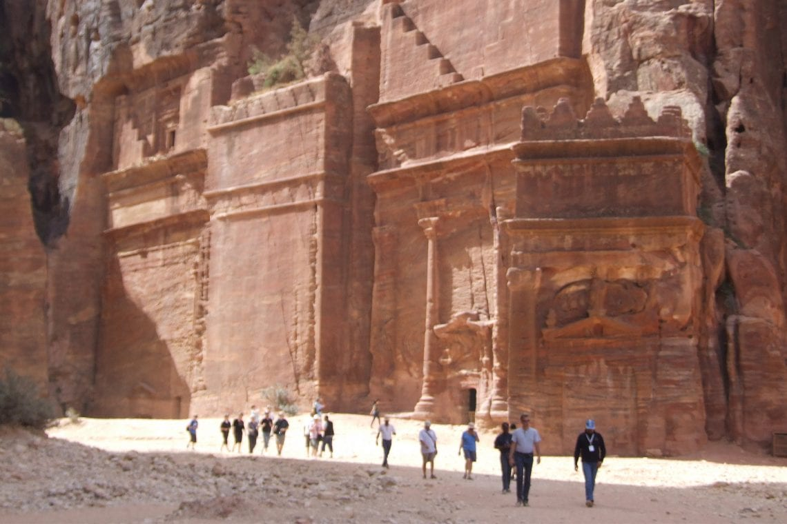 petra walking along the archaeological park