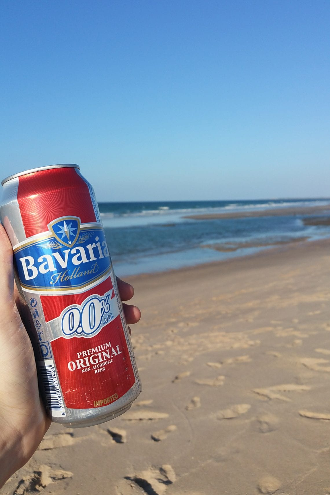 somaliland non alcholic beer on the beach