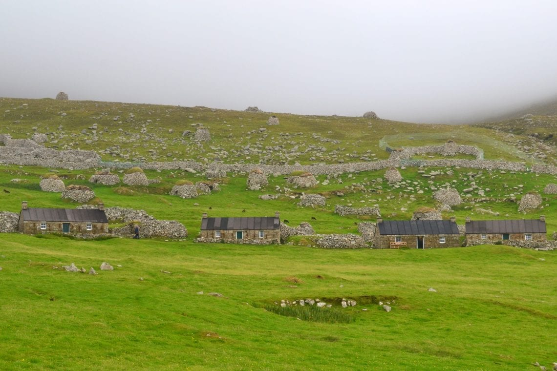 st kilda reconstructed houses in the village