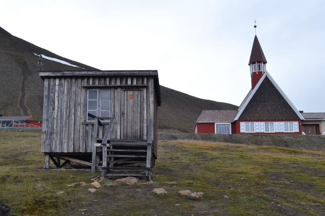 svalbard the old post office and church