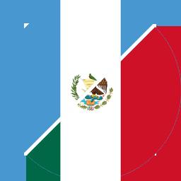 guatemala to mexico flag round icon 256