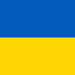 ukraine flag round icon 256
